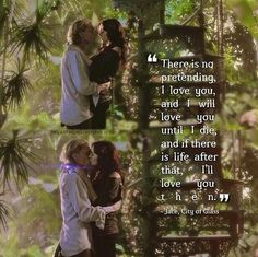 Cute love quote the mortal instruments Jace and clary The greenhouse Kiss scene city of bones Ship Otp