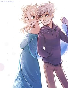 Jelsa ♥ - I don't ship them, but this is cute.