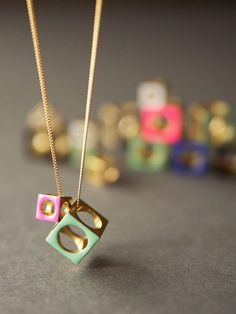 Cyclical Industry - Two Cubes Necklace