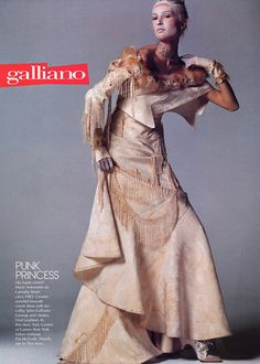 Vogue US July 2001 - Liisa Winkler wearing John Galliano by Steven Meisel