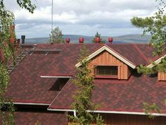 house roof with shingles in red color colorful-tile Colored-Roofs, roof designs