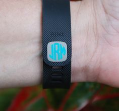 Fitbit Charge Clasp Monogram Decal Fitbit by HannahBethAndCo