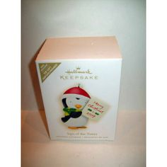 2009 HALLMARK ORNAMENT SIGN OF THE TIMES