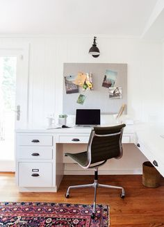 Office in a California eclectic home.