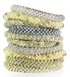 Pile on SAME SKY Prosperity bracelets in subtle metallics + delicate neutrals... http://www.samesky.com/collections/the-prosperity-collection