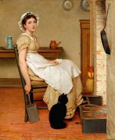 Painting by George Dunlop Leslie (1835-1921).