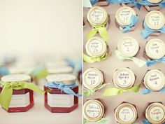 Cute idea for gift and table assignments