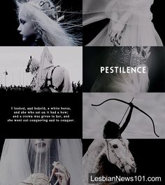 """pxrsephonie: """" """"mythology meme: five relationships ≡ the four horsemen; """" Authority was given to them over a fourth of the earth, to kill with sword and with famine and with pestilence and by the wild beasts of the earth. Story Inspiration, Character Inspiration, Akira, Horsemen Of The Apocalypse, Mystique, Arte Horror, Angels And Demons, Aesthetic Collage, Greek Gods"""