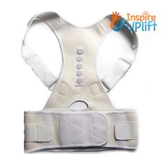 Sitting slumped all day can created a crooked neck, rounded shoulders and tummy rolls. The Magnetic Therapy Posture Corrector supports your neck, your spine and your lower back. Bad Posture, Posture Corrector, Improve Posture, Magnets, Rolls, Therapy, Brand New, Closure, Beige
