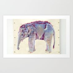 Baby Asian Elephant painting by Mayuka Thais