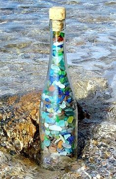 Top Decorating Ideas with Bottles | Recycling Bottles for Coastal & Beach Decor