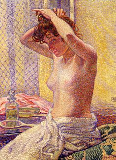 Theo van Rysselberghe, Woman at Her Toilette, 1905