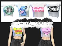 Dark_Maps' Random Crop Tops [DM]