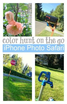 All you need is a camera (we used an iphone)  and you can do a fun on the go activity ! Great for color recognition.