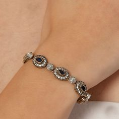 The Zerbap Narcisa  Bracelet  with Zircon Sapphire by Rosestyle, $65.50