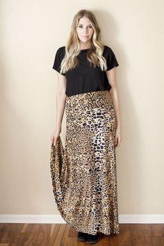 Honey and Lace Coachella Cheetah Maxi