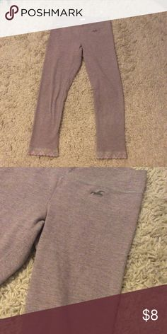 Hollister leggings Perfect condition a pinky gray color Pants Leggings