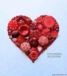 Cœur en bouton