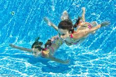 Swimming with multiple children can be difficult