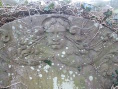 18thC winged head. Welsh Newton, Monmouthshire. See more on the pinterest page 'Welsh Newton Gravestones'.
