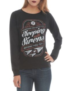 Sleeping With Sirens Paper Planes Girls Pullover