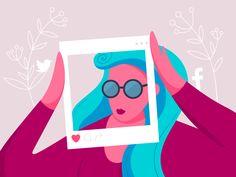 Social Media Illustration designed by Anita Molnar for Bannersnack.