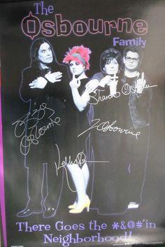 The Osbournes – Original von allen Vieren signiertes Plakat ca. 60x90cm. www.starcollector.de