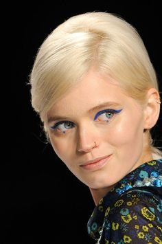 azure wings by Pat McGrath for Anna Sui F/W 2012