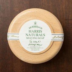 D.R. Harris Naturals Shaving Soap In Beechwood Bowl 100g - 3.5oz
