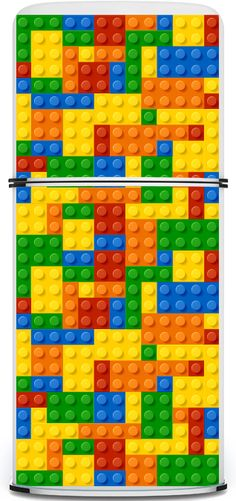 LEGO Fridge Magnet   ~   Mind blowing!  And this a relatively simple design/application of LEGOs!