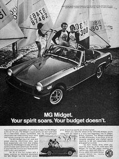 1971 MG MGB GT Austin bw Vintage Advertisement Ad