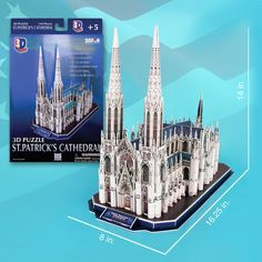 Build this realistic fun 3D puzzle replica of St Patrick's Cathedral.