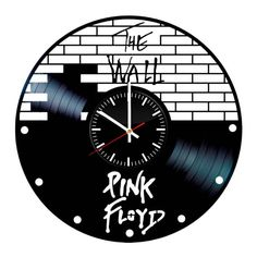Pink Floyd The Wall Vinyl Clock - Music Band Vinyl Record Wall Art Handmade Decor - Best Original Vintage Gift For Music Fans Decoration by ArtLeagueHouse on Etsy https://www.etsy.com/listing/570018205/pink-floyd-the-wall-vinyl-clock-music