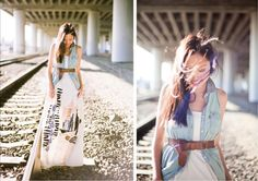 i really dig anh's creativity, a denim vest over this maxi dress and then belted... dont think i'd ever think of this ...