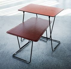 Leather and timber textures | Tango table | Schiavello.