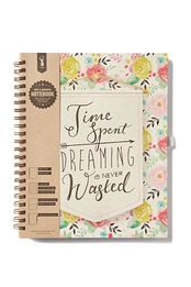 a4 collegiate notebook, FLORAL QUOTE