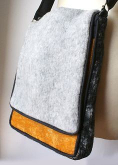 felted wool messenger bag