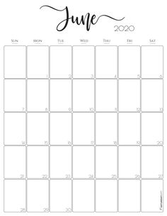 Vertical June 2020 Monthly Calendar – Free (and pretty! Calendar June, Cute Calendar, Print Calendar, Calendar Design, Calendar Wallpaper, Free Printable Calendar Templates, Monthly Calendar Template, Printable Planner, Free Printables