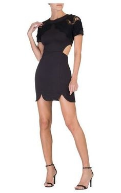 Vestido renda Leona - preto