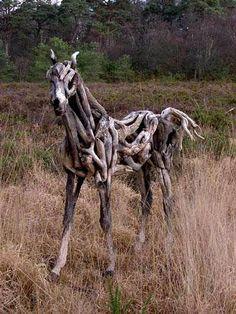 Drift wood horse