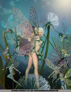 Fairy Art: Erotic Flower Fairies; Contemporary Faerie Art ( Faery Art ) after the Victorian Fairy Art Tradition by Howard David  Johnson