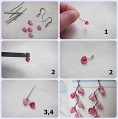 DIY earrings -.brown and green for trees, red and orange for fall leaves