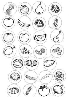 Nanu-Erweiterungssatz: Obst, Gemüse, Nüsse Learning Apps, Kids Learning, Kindergarten Portfolio, Baby Quiet Book, Preschool Colors, Free Preschool, Alphabet Activities, Teaching Materials, Coloring Pages For Kids