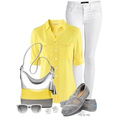 """""""Yellow & Grey Contest 2"""" by bln-in-mn on Polyvore"""