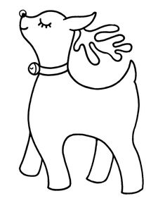 learning years christmas coloring pages girl reindeer with a sleigh bell christmas animals - Pre K Coloring Sheets