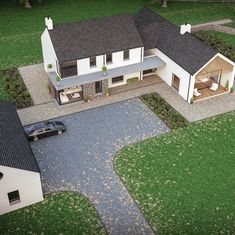 one-off bespoke houses located all over UK & Ireland House Designs Ireland, House Ireland, Rendered Houses, Cottage Extension, Architectural Floor Plans, Self Build Houses, Build Your Own House, Unique House Design, Modern Farmhouse Exterior