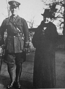 Rupert Brooke, as a sub-lieutenant in the Hood Battalion of the Royal Naval Division, with his mother