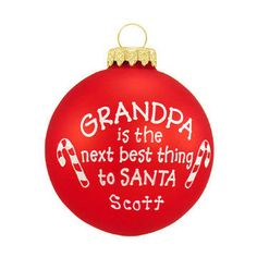 Personalized Grandpa Best Glass Ornament