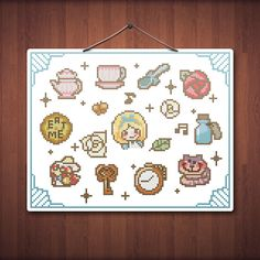 Little Alice in Wonderland Cute Cross Stitch by Stitchykins