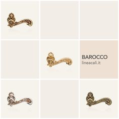 Barocco | A collection that delights us with its panache, the results of the skilful hands of Italian artisans that transform a simple piece of brass into a precious furnishing accessory - - - Una collezione che meraviglia per la sua ricercatezza, frutto delle sapienti mani di artigiani italiani che trasformano un semplice pezzo di ottone in un prezioso accessorio d'arredo.  #handles #doorhandle #doorhandles #lineacali #maniglie #vintage #barocco #baroque #brass #klamki #ручки #manillas…